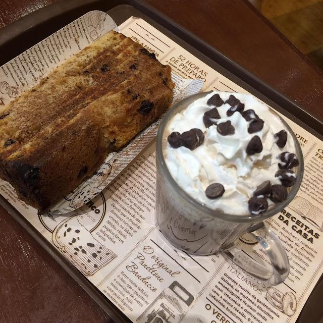 chocotone e chocolate quente bauducco