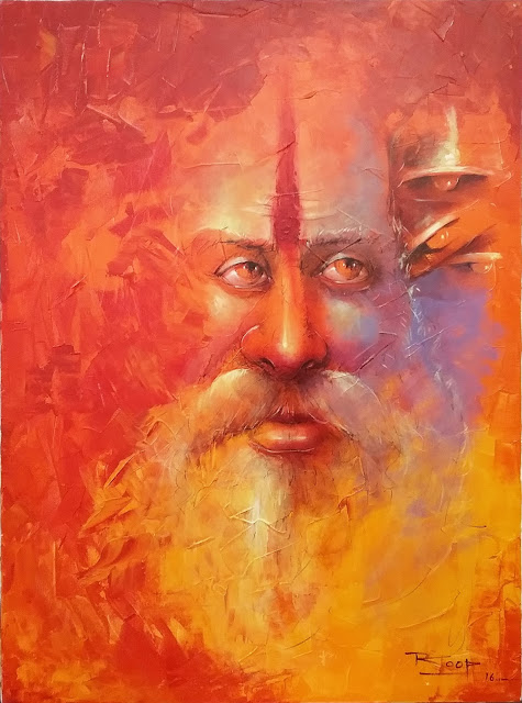 5.Title_2  Medium_ Acrylic on Canvas Size_40x30 inches by Artist Roop Chand