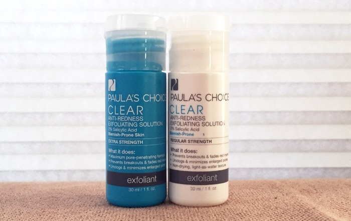Paula's Choice Clear Regular/Extra Strength Exfoliant Review - The Acne Experiment