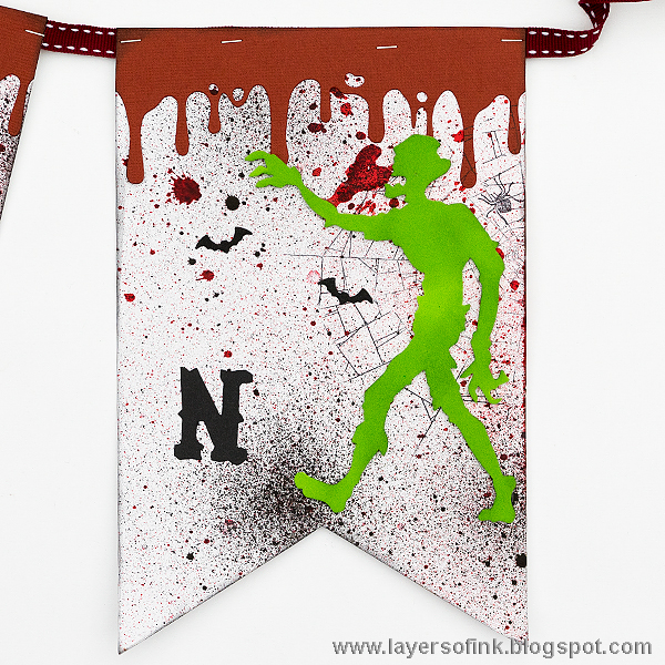 Layers of ink - Halloween Party Pennant Banner Tutorial by Anna-Karin with Sizzix dies