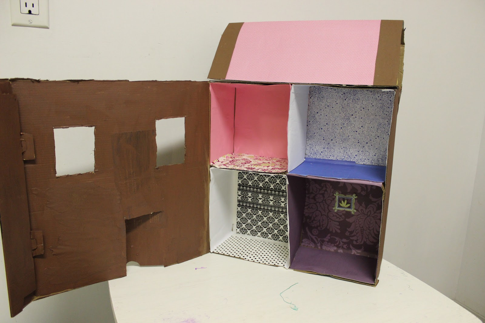 Jewish Homeschool In Nyc Cardboard Box Dollhouse
