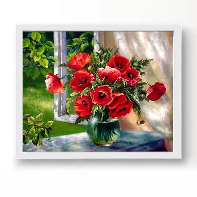 Tranh son dau so hoa tai Xuan Dinh