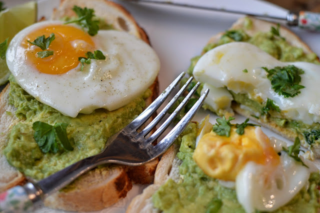 Avocado Toast with a heart shaped egg breakfast recipe