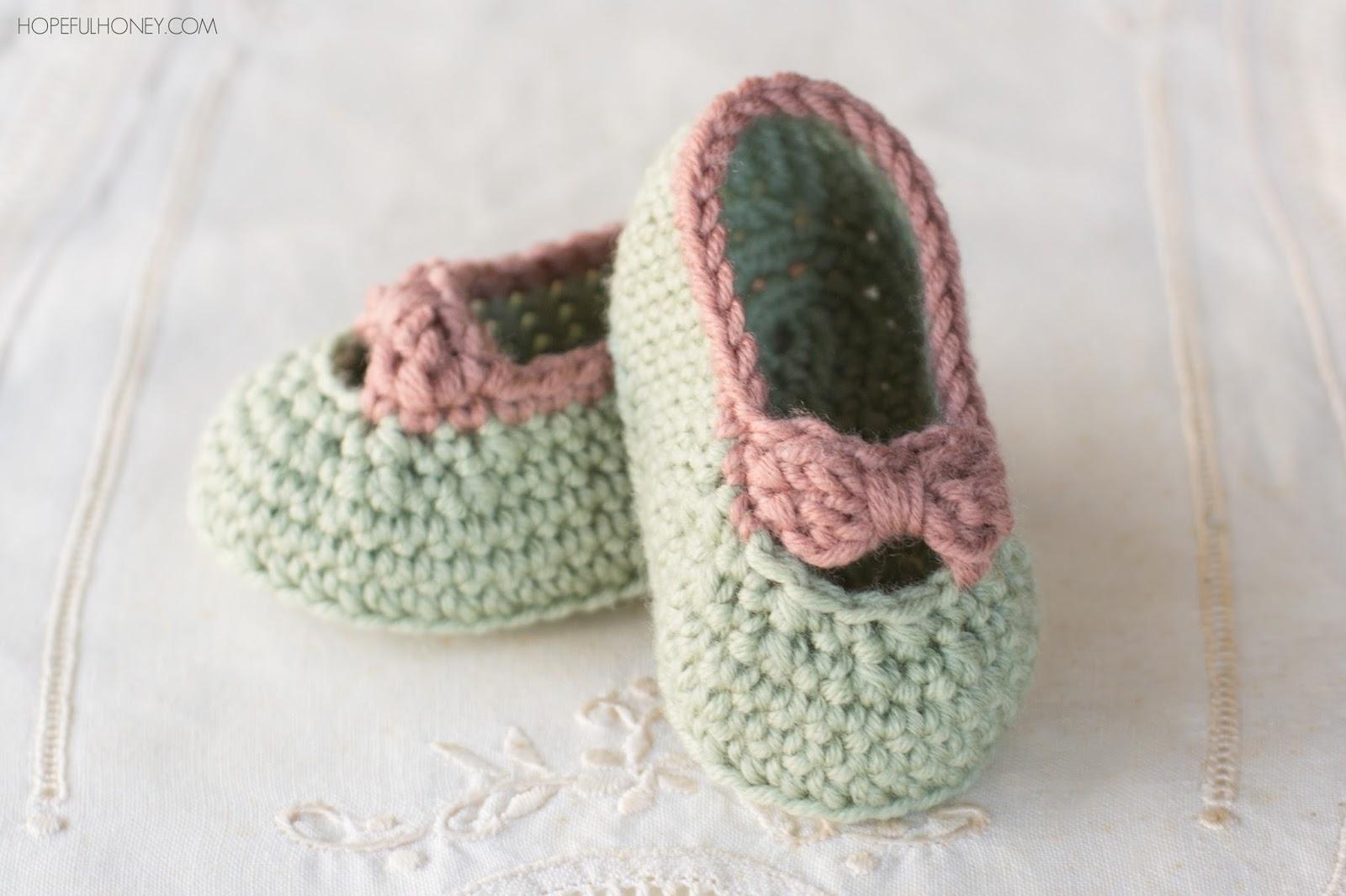 Little Lady Baby Booties - Free Crochet Pattern Hopeful ...