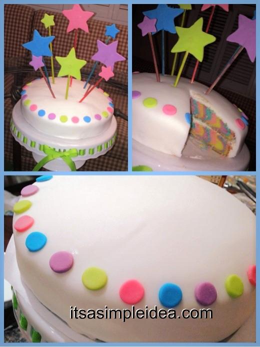Its A Simple Idea Simple Fondant Cake Idea For Kids And Beginners