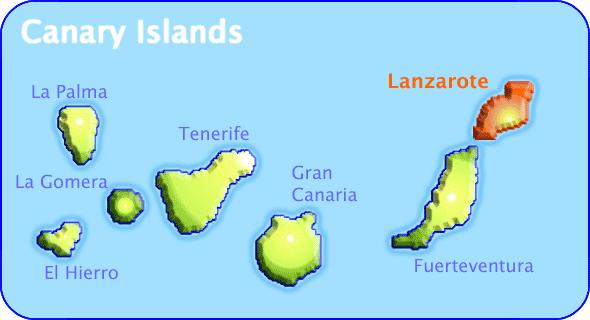 Islas Canarias Mapa Politico.Islas Canarias Mapa Imagen