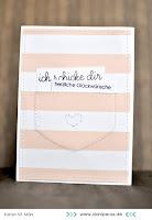 Kartenwind : Glückwunschkarte mit Tasche #kartenwind #stripes #cardmaking #card #glückwunsch #stempeln #stamping #danipeuss