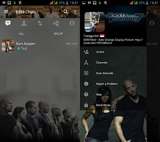 Tema BBM Transparan Fast and Furious v3.3.1.24 APK
