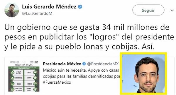 Actor criticó a Peña Nieto y la presidencia lo espía y le saca sus trapitos sucios