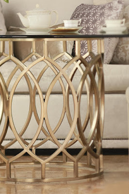 geometric dining table at Baer's Furniture