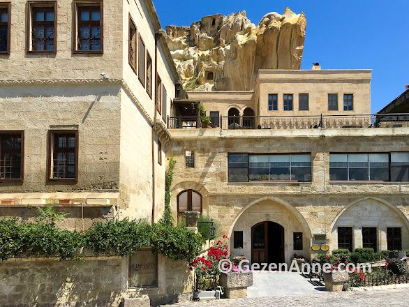 Fresco Cave otelin tarihi taş konakları, Ürgüp Kapadokya