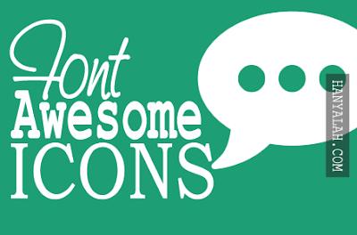 Cara menggunakan Font Awesome icons