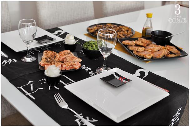 mesa posta de almoço japones
