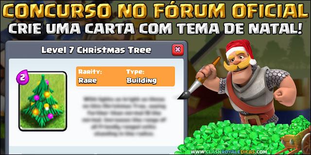 Carta Tema de Natal Clash Royale