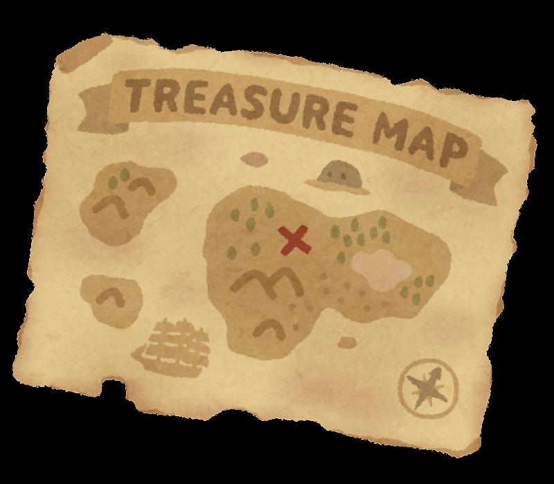 宝の地図のイラスト | かわいいフリー素材集 いらすとや