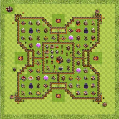 War Base Town Hall Level 10 By Ankit Patel (ankit TH 10 Layout)