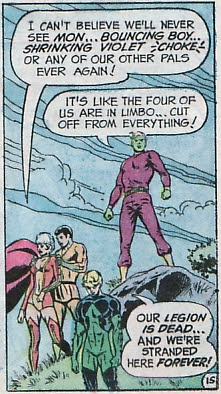Legion of Super-Heroes #198, stranded