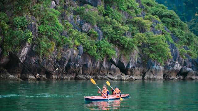 Kayaking through the beautiful Bai Tu Long Bay 1