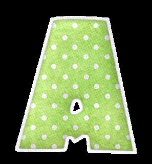 Alfabeto Colorido con Lunares.