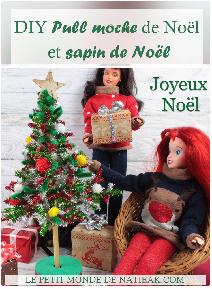 DIY Pull moche Barbie et sapin de Noel (tuto et patron)