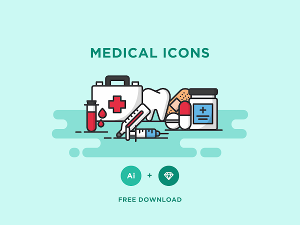 Download Vector Medical Icons Set Free