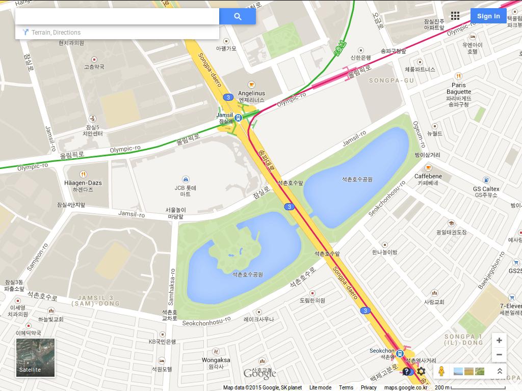 10원 Tips: Comparing map sites in Korea: Naver, Daum, Google, Bing on