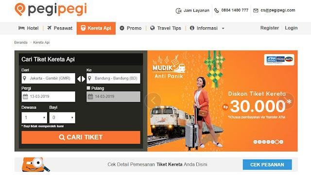 Pesan Tiket Kereta Api Jadi Lebih Mudah di Pegipegi.com