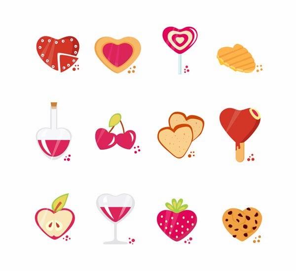 Set of Love Theme Icon Mix Vector