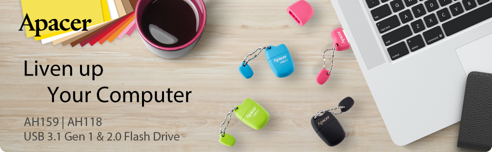 Apacer AH159 and AH118 Super-Mini USB Flash Drives