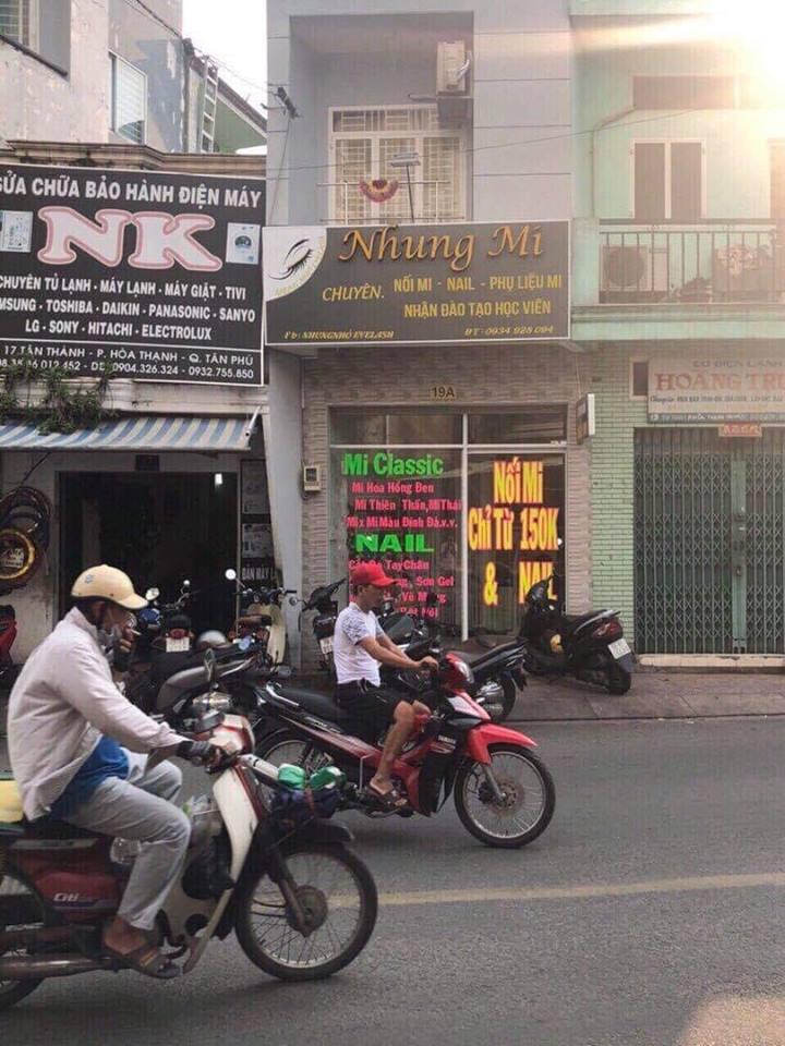 Bán nhà Mặt tiền đường Tân Thành phường Hòa Thạnh quận Tân Phú, DT 3,2x7,5m