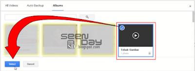 Youtube - Pilih Video Google Photos