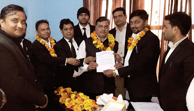 BJP Kisan Morch District Vice President Dinesh Bhati joins the Kagrense Party