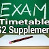 S1&S2 Semesters B.Tech Supplementary Exam Timetable