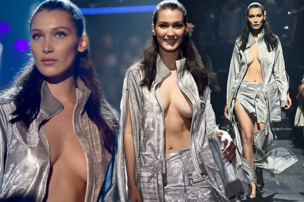 Bella Hadid walks the runway at the amfAR's 23rd Cinema Against AIDS Gala