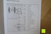 Aufbau: Andrew James 40cm Standventilator mit Chromfinish – 60 Watt Motor, Verstellbare Höhe, 3 Geschwindigkeitseinstellungen, verstellbare Neigung und Schwenkfunktion + Hochbeanspruchbar – 2 Jahre Garantie
