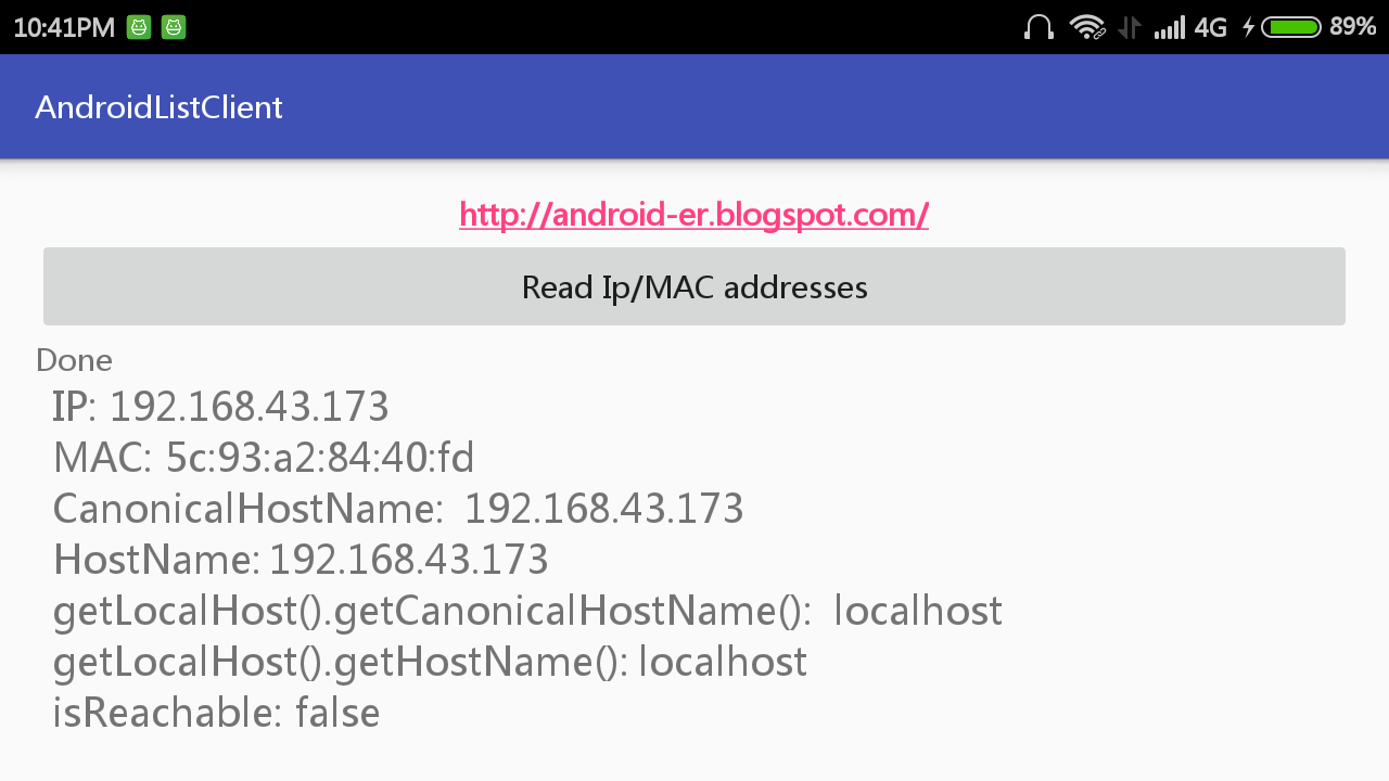 Android-er: Get HostName of WiFi hotspot clients, and check
