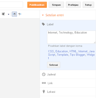 Menggandakan kategori blog lebih dari satu