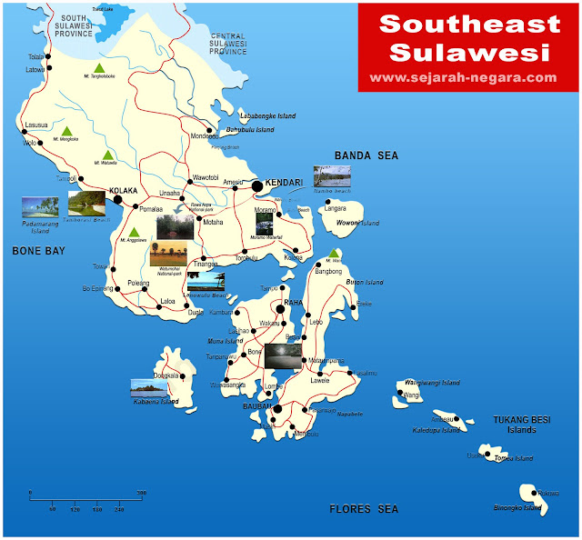 image: Southeast Sulawesi Map High Resolution