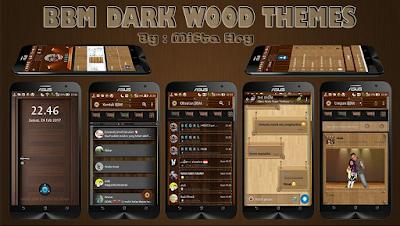 BBM Dark Wood Themes v2.1.1 Based BBM Official Versi 3.3.0.16