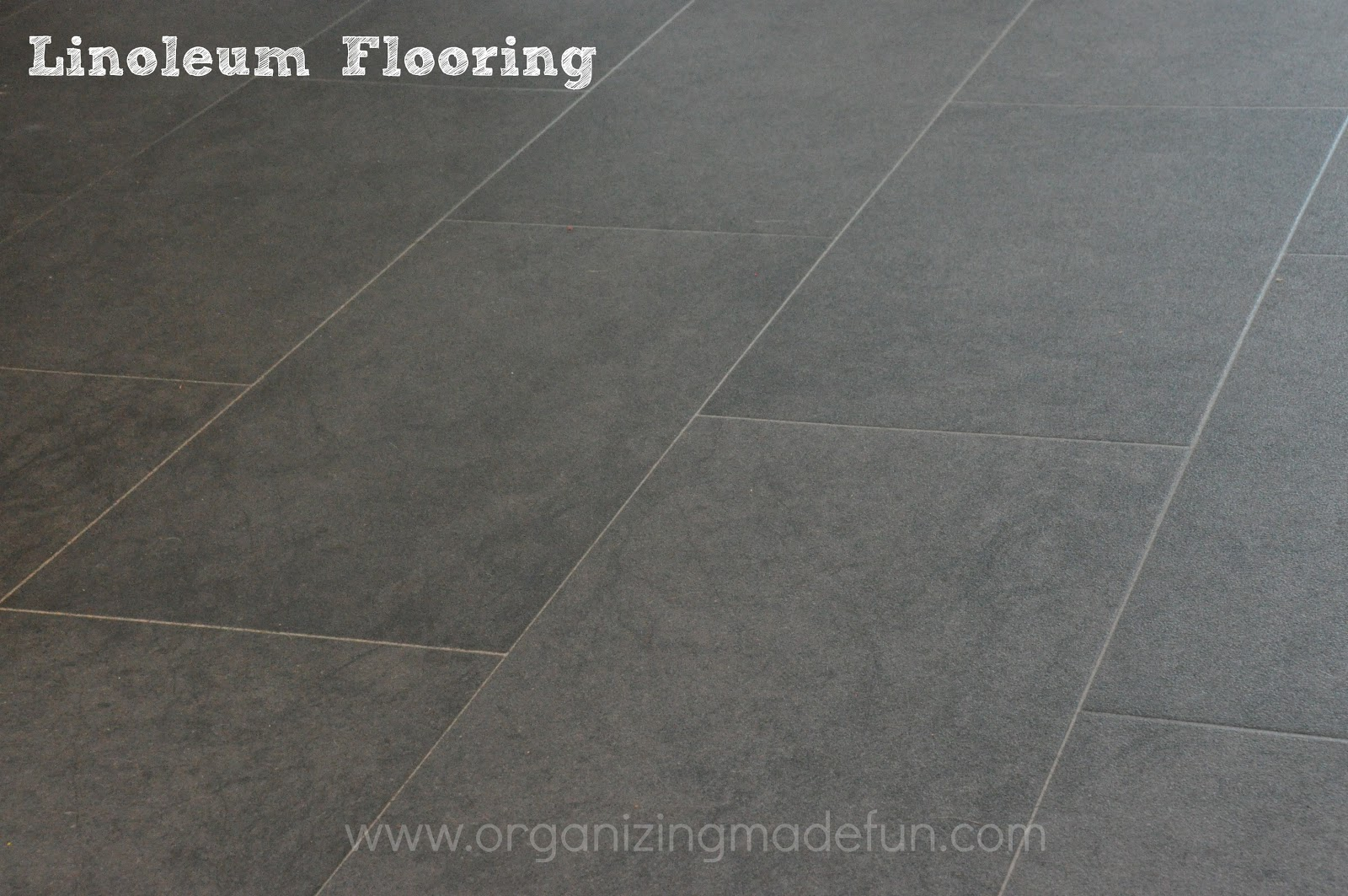 Our new floor in the kitchen | Organizing Made Fun: Our ...