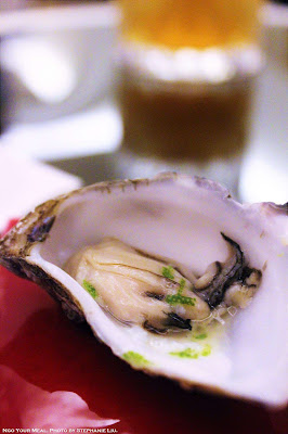Mini Oyster with Frozen Lemon Zest at ABaC Restaurante in Barcelona