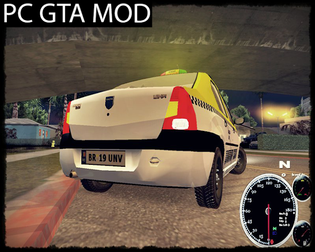 Free Download Dacia Logan Taxi Univip Mod for GTA San Andreas