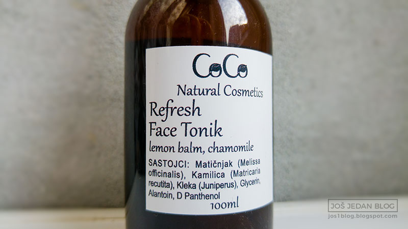 Coco Natural Cosmetics Refresh tonik recenzija utisci