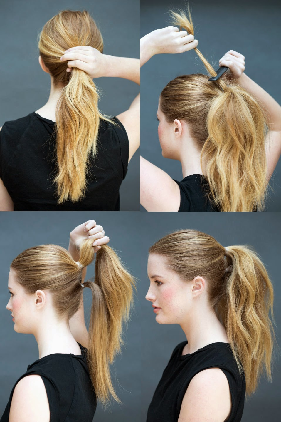Cute Ponytail For Medium Hairs Step By Step