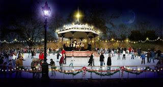 hyde park, christmas, ice rink, ice skating, winter wonderland