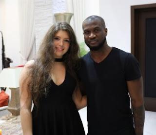 Stephanie Ghaida Visits Peter Okoye Of P'square (Photos