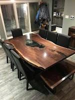 Mesas de madera rústicas artesanales