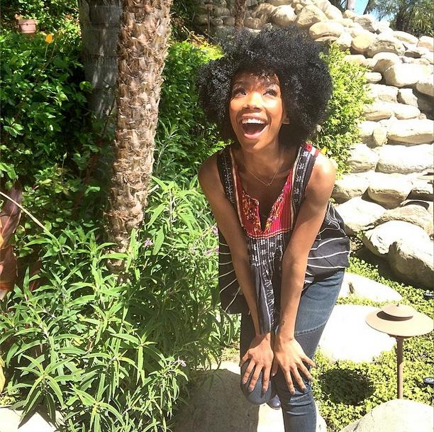 Awe Inspiring Singer Brandy Debuts New Afro Hairstyle On Instagram Hairstyles For Women Draintrainus