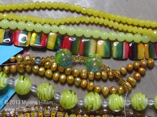 From limey yellow to mustard, to amber.... lots of new yellow bead strands to fill my yellow bead drawer.