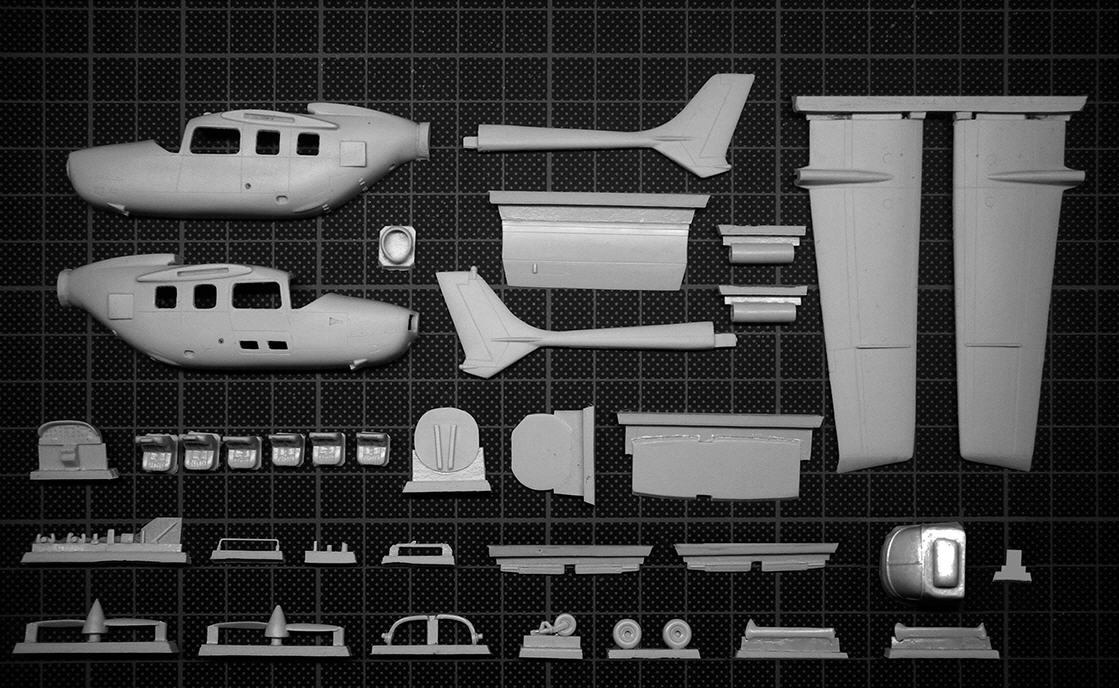 Lift Here!:  Reims-Cessna FBT 337G Skymaster ^resin parts